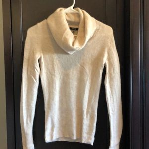 Apt 9 100% cashmere oatmeal cowl neck sweater